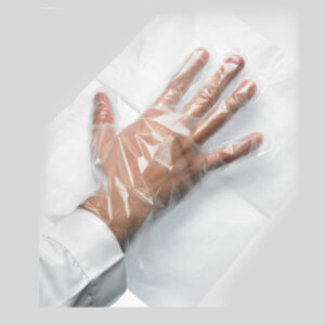 Disposable PE Gloves with Paper